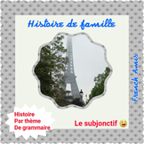 French Subjonctif présent - French storywith exercises -  Histoire de famille