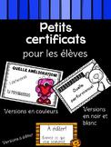 Petits certificats de reconnaissance