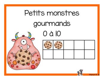 Petits monstres gourmands (Dénombrement 0 à 10)