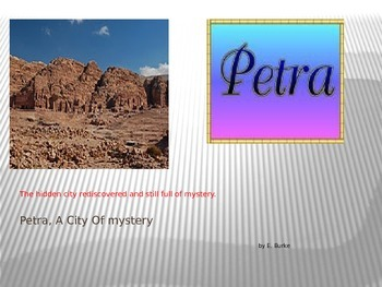 Petra, A City Of Mystery