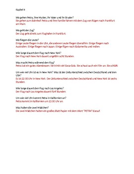 Petra reist nach Kalifornien Kapitel 4 Study Guide with answers
