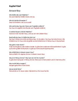 Petra reist nach Kalifornine Kapitel 5 Study Guide w/Answers