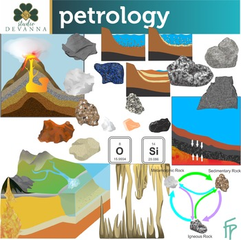 Rocks and The Rock Cycle Clip Art