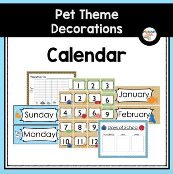 Pet-Themed Calendar Set