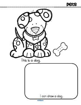 Pets Activity Printables for Preschool