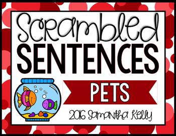 Pets Scrambled Sentence Station