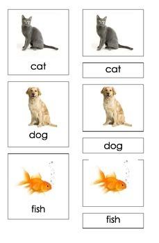 Pets (3 Piece Montessori Cards)