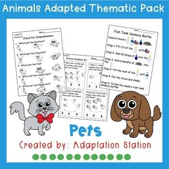 Pets Adapted Thematic Pack