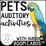 Pets Auditory Activities Following Directions with Audio B