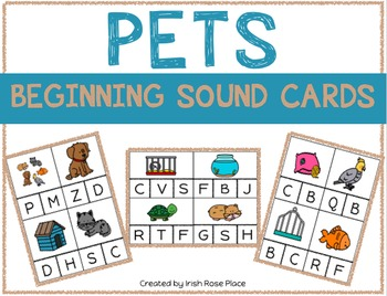 Pets Beginning Sound Cards