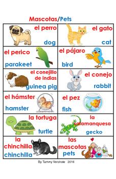 Pets Bilingual poster