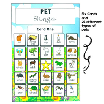 Pets Bingo Game