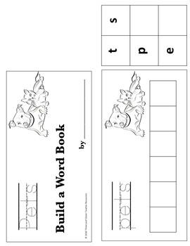 Pets Build a Word Book - Color, Cut and Glue Activity