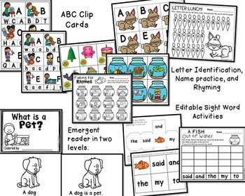 Pets Centers and Activities for Pre-K/Kindergarten