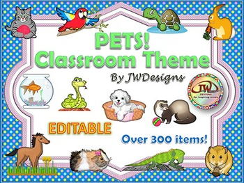 Pets Classroom Theme Pack with Guinea Pig - a great bundle of classroom decor