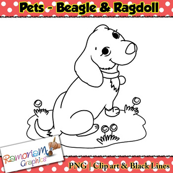 Pets Clip art Beagle Dog and Ragdoll Cat