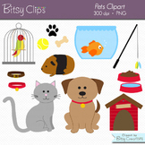 Pets Clipart Commercial Use Clip Art Digital Art Set - Cat Clipart - Dog Clipart