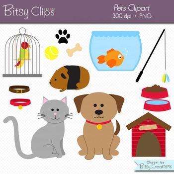 Pets Clipart Commercial Use Clip Art Digital Art Set - Cat