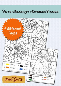 Pets Color By Number Pages
