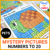 Pets Color by Number Mystery Pictures - Numbers to 20