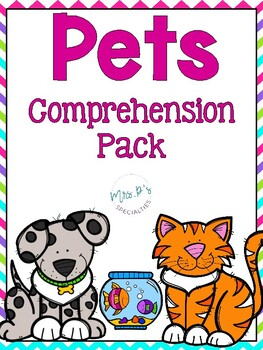 Pets Comprehension Pack