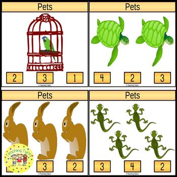 Pets Clip Task Cards