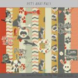 Pets Digital Scrapbooking and Clip Art