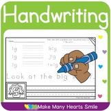 Editable Handwriting Worksheets     MHS15