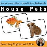 Pets Flash Cards, Activities, and Games for English Langua