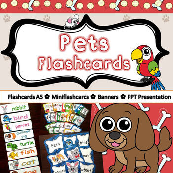 Pets Flashcards *different versions*