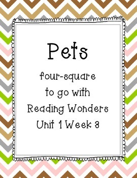 Pets Four-Square Writing