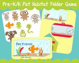 Pets Habitat Family Dog Cat Fish Class Pet Printable Folder Game