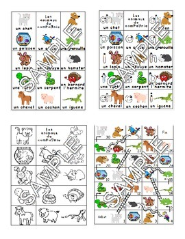 Pets / Les animaux de compagnie FRENCH Workbook & Games Pack