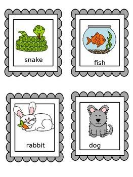 Pets: Literacy Center Activites