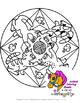 Pets Mandala Coloring Sheets - Cats, Puppies, Ponies, Goldfish, Gecko