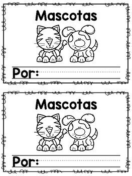 Pets Mascotas - Writing Practice Book