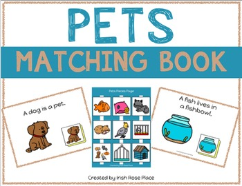 Pets Matching Book (Adapted Book)