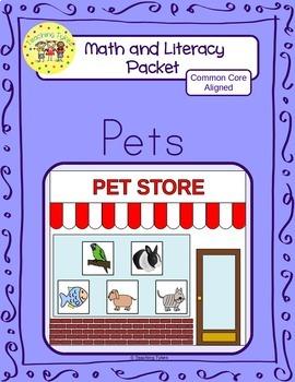 Pets Worksheets Emergent Reader Task Cards