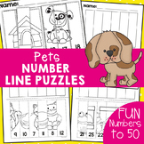 Pets Number Line Puzzles