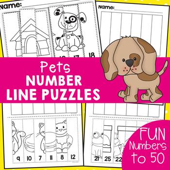Pets Number Line Puzzles