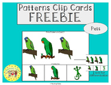 Pets Patterns Task Clip Cards FREEBIE
