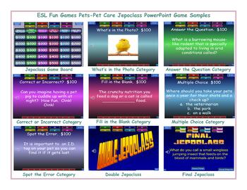 Pets-Pet Care Jeopardy PowerPoint Game Slideshow