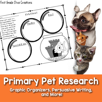 Pet Primary Research Project with Research Graphic Organizers