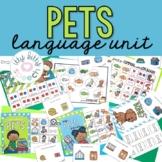 Pets Preschool Language Unit (+ BOOM Cards)
