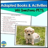 Pets Preschool Photo Activities   Answering WH Questions  