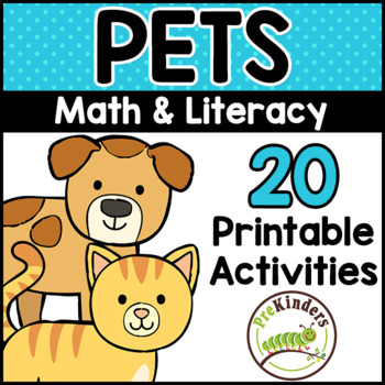 Pets Printable Math & Literacy Activities for Pre-K ...