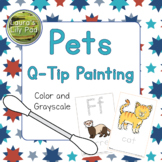 Pets Q-tip Painting