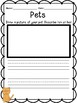 Pets Reading, Writing and Math Activities for Early Elementary
