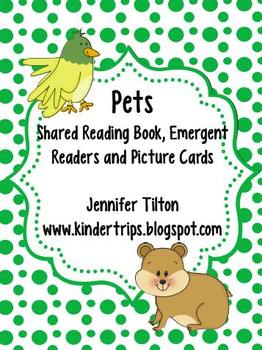 Pets Shared Reading Book, 2 Emergent Readers and Picture Cards