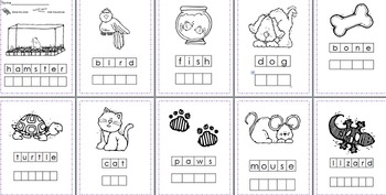 Pets Stamp a Word & Write the Room Centers